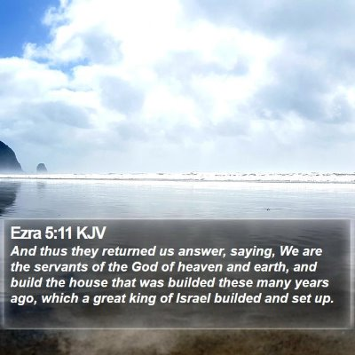 Ezra 5:11 KJV Bible Verse Image