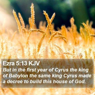 Ezra 5:13 KJV Bible Verse Image
