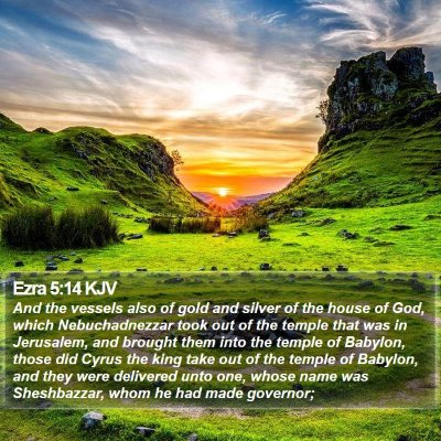 Ezra 5:14 KJV Bible Verse Image