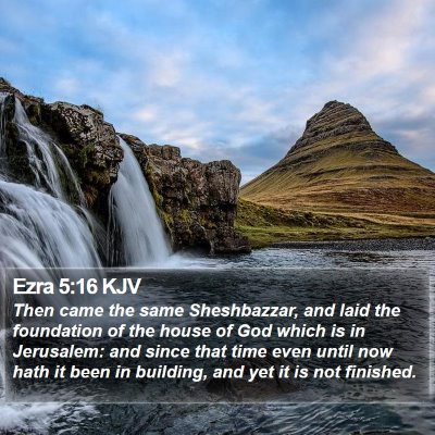 Ezra 5:16 KJV Bible Verse Image