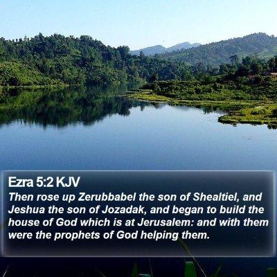 Ezra 5:2 KJV Bible Verse Image