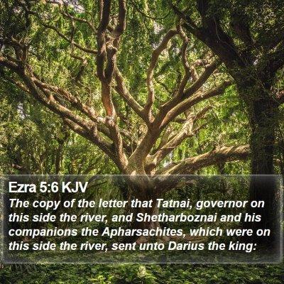Ezra 5:6 KJV Bible Verse Image