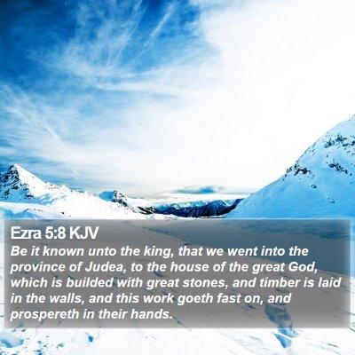 Ezra 5:8 KJV Bible Verse Image