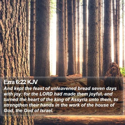 Ezra 6:22 KJV Bible Verse Image