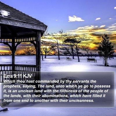 Ezra 9:11 KJV Bible Verse Image