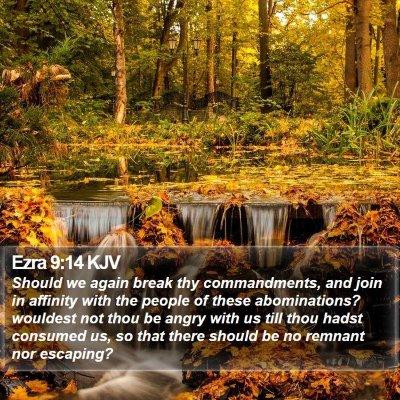 Ezra 9:14 KJV Bible Verse Image