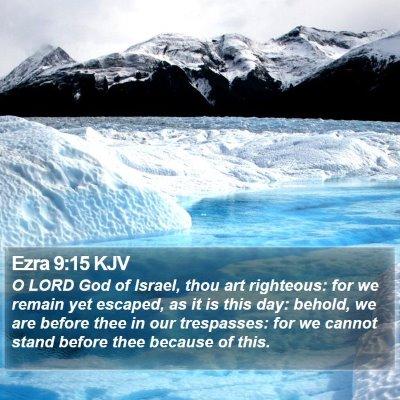 Ezra 9:15 KJV Bible Verse Image