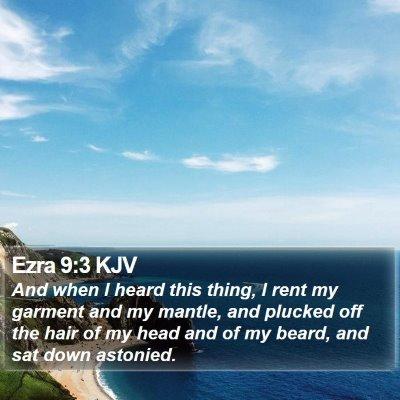 Ezra 9:3 KJV Bible Verse Image