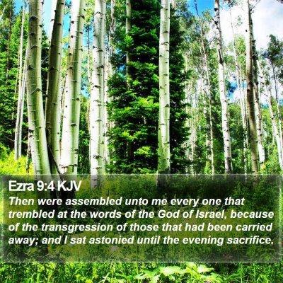 Ezra 9:4 KJV Bible Verse Image
