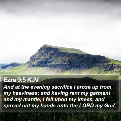 Ezra 9:5 KJV Bible Verse Image