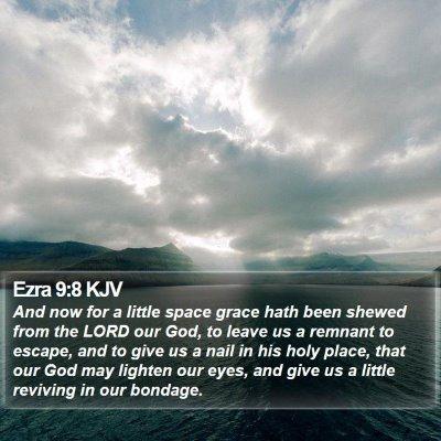 Ezra 9:8 KJV Bible Verse Image