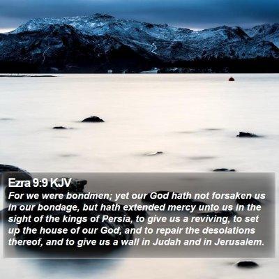 Ezra 9:9 KJV Bible Verse Image
