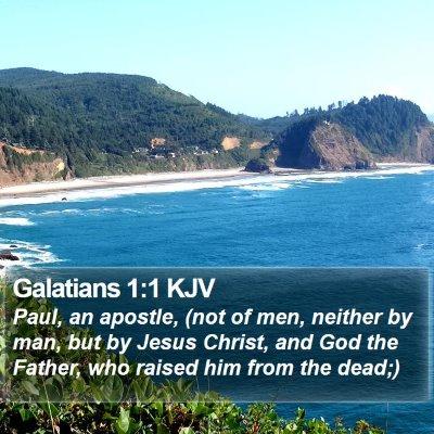 Galatians 1:1 KJV Bible Verse Image