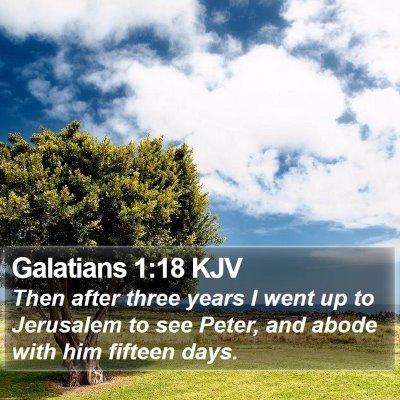 Galatians 1:18 KJV Bible Verse Image