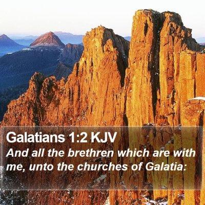 Galatians 1:2 KJV Bible Verse Image