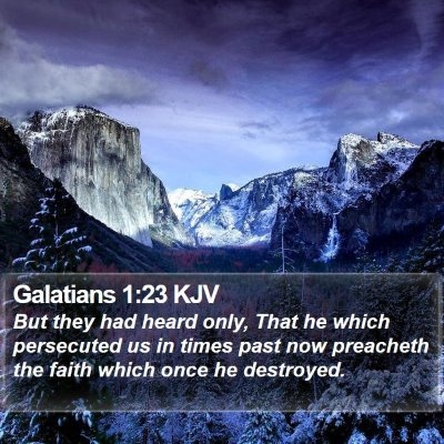 Galatians 1:23 KJV Bible Verse Image