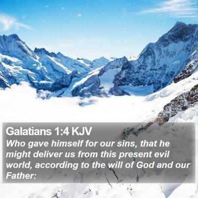 Galatians 1:4 KJV Bible Verse Image