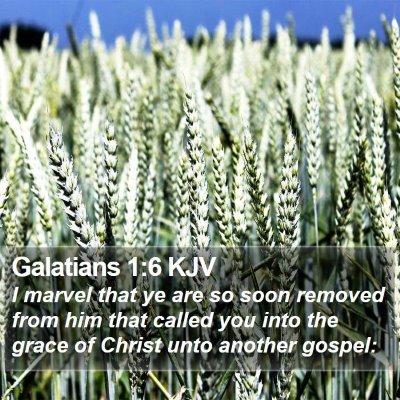 Galatians 1:6 KJV Bible Verse Image