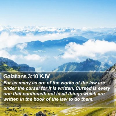 Galatians 3:10 KJV Bible Verse Image