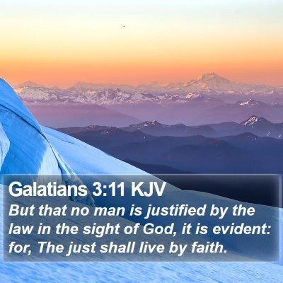 Galatians 3:11 KJV Bible Verse Image