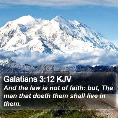Galatians 3:12 KJV Bible Verse Image