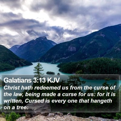 Galatians 3:13 KJV Bible Verse Image