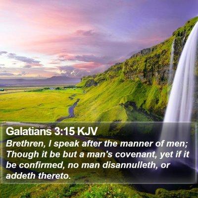 Galatians 3:15 KJV Bible Verse Image