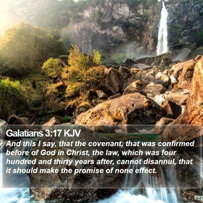 Galatians 3:17 KJV Bible Verse Image