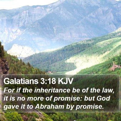 Galatians 3:18 KJV Bible Verse Image