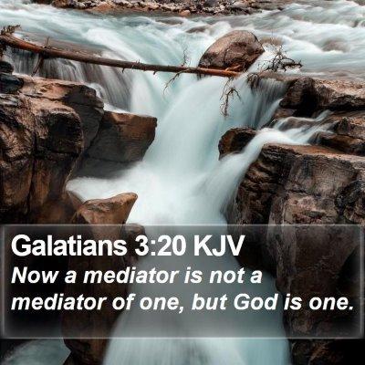 Galatians 3:20 KJV Bible Verse Image