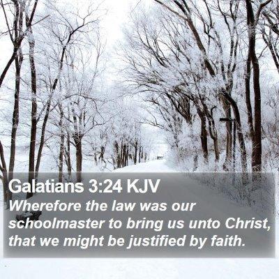 Galatians 3:24 KJV Bible Verse Image