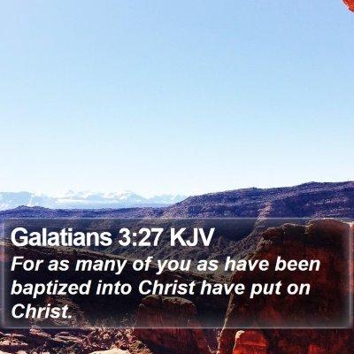 Galatians 3:27 KJV Bible Verse Image