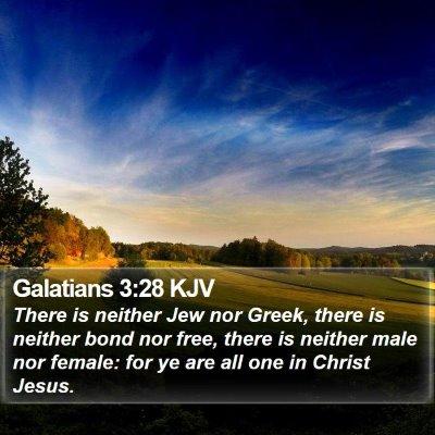Galatians 3:28 KJV Bible Verse Image
