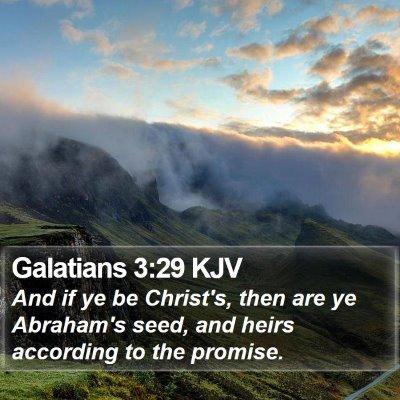Galatians 3:29 KJV Bible Verse Image