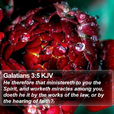 Galatians 3:5 KJV Bible Verse Image