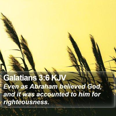 Galatians 3:6 KJV Bible Verse Image