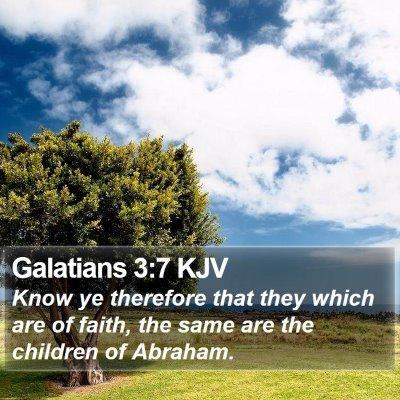 Galatians 3:7 KJV Bible Verse Image