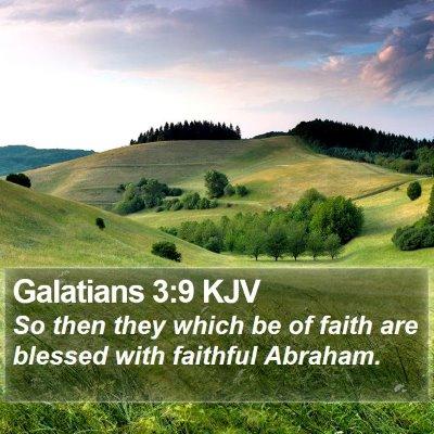 Galatians 3:9 KJV Bible Verse Image