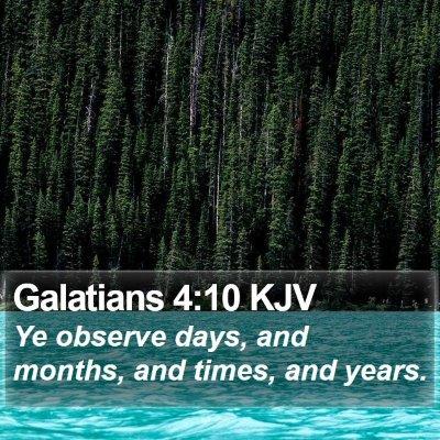 Galatians 4:10 KJV Bible Verse Image