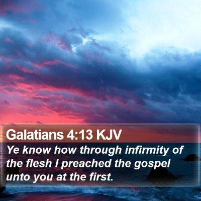Galatians 4:13 KJV Bible Verse Image