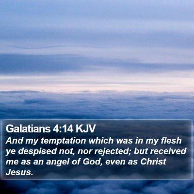 Galatians 4:14 KJV Bible Verse Image