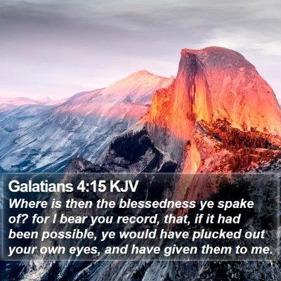 Galatians 4:15 KJV Bible Verse Image