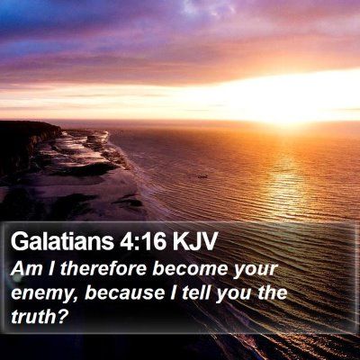 Galatians 4:16 KJV Bible Verse Image