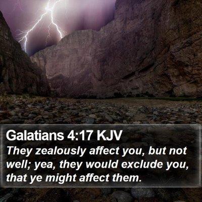 Galatians 4:17 KJV Bible Verse Image