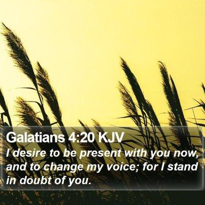 Galatians 4:20 KJV Bible Verse Image