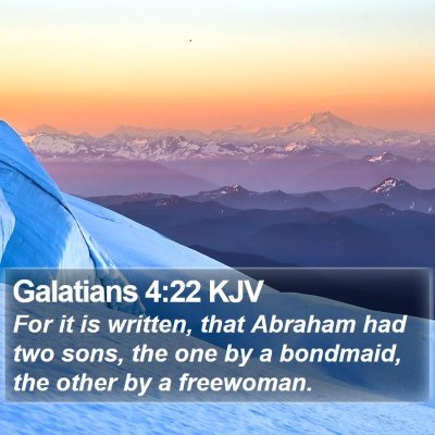 Galatians 4:22 KJV Bible Verse Image