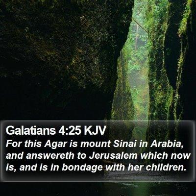 Galatians 4:25 KJV Bible Verse Image