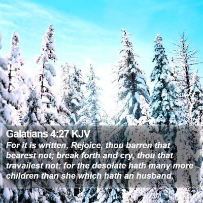 Galatians 4:27 KJV Bible Verse Image
