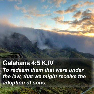 Galatians 4:5 KJV Bible Verse Image