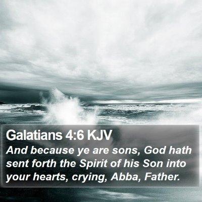 Galatians 4:6 KJV Bible Verse Image